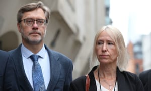 John Letts and Sally Lane outside the Old Bailey in London after their conviction last month.