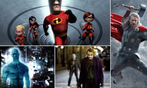 The Incredibles, Thor: The Dark World, The Dark Knight and Watchmen.