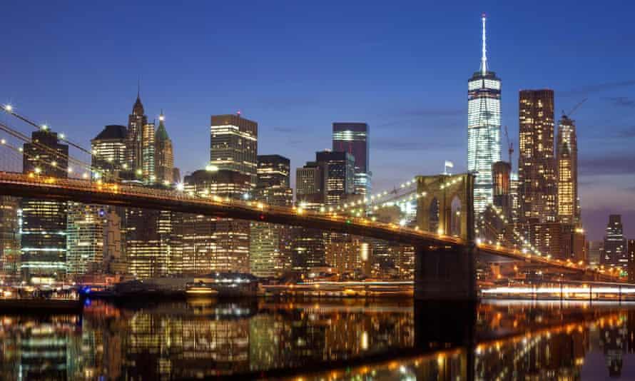 The Manhattan waterfront.