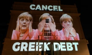 Merkel protest on the German embassy in London, 2015.