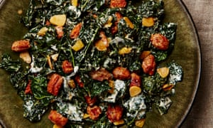 Cavolo nero with chorizo and preserved lemon.