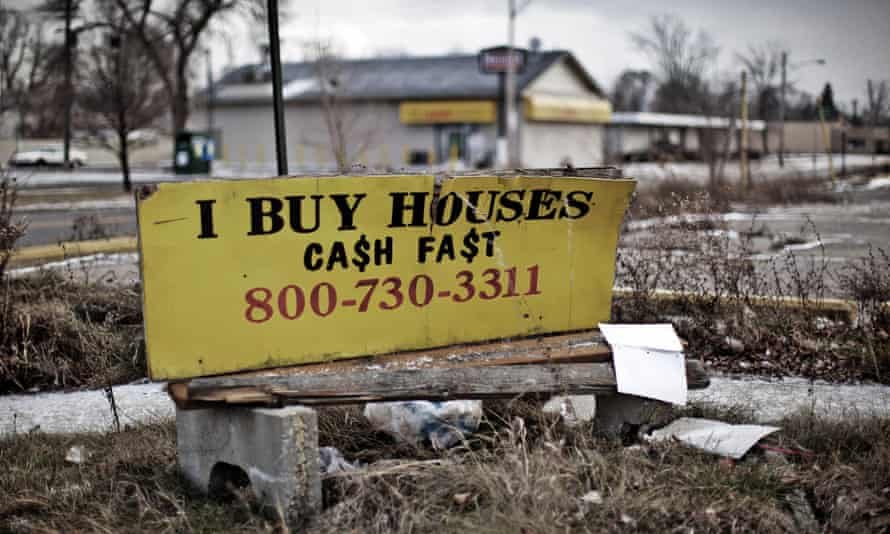 A street in Detroit. 'To say the middle class is shrinking doesn't tell us much.'