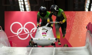 Jamaica's two-woman crew made it to the start line after a last-minute search for a sled.