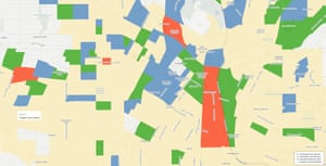 The gentrification map of Los Angeles. Graphic by UCLA Urban Displacement Project