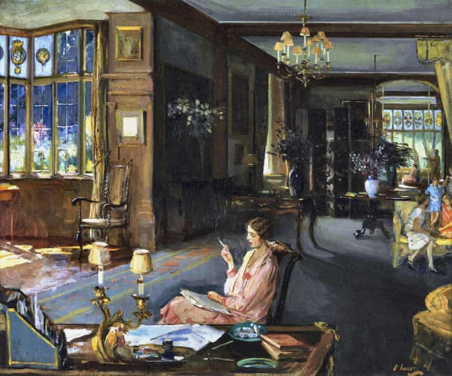 Mary Borden and Her Family at Bisham Abbey, by Sir John Lavery in 1925.