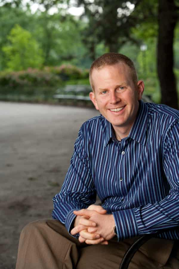 Clay Cockrell, founder/director of Walk and Talk therapy, in Central Park, New York.