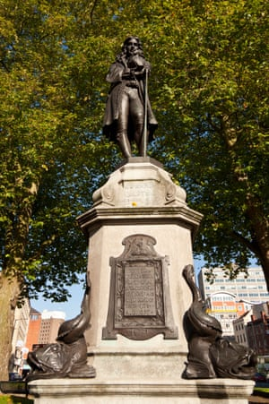 A statue of Edward Colston in Bristol