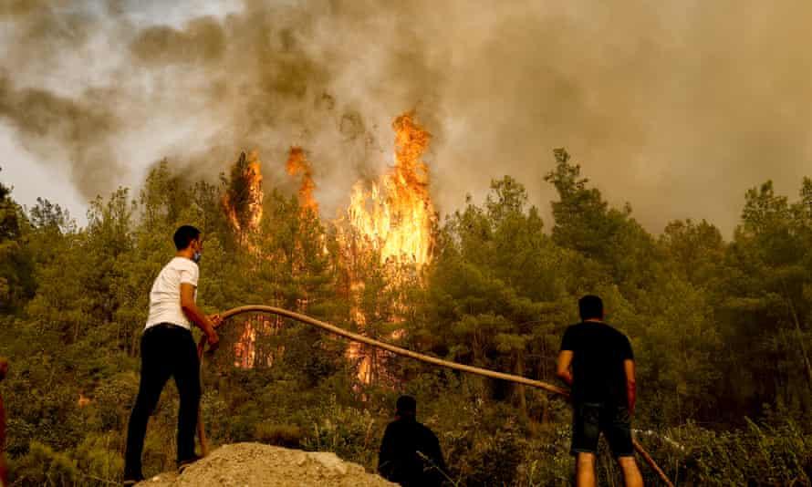 Forest fires were seen in the Antalya region, Turkey