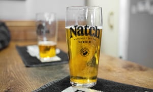 A pint of Natch cider, brewed in Shepton cider mill.