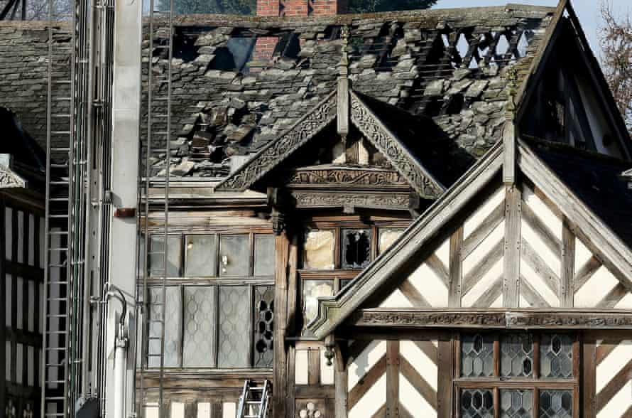 The roof and upper floor of the property were badly damaged in the blaze.