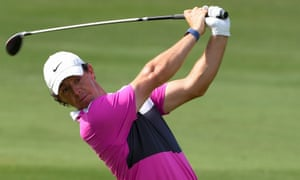 Rory McIlroy during the final of the Dubai World Tour Championship in the United Arab Emirates last month.