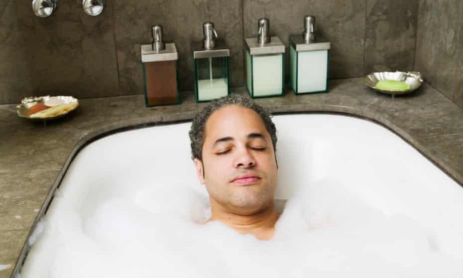 A nice hot bubble bath.