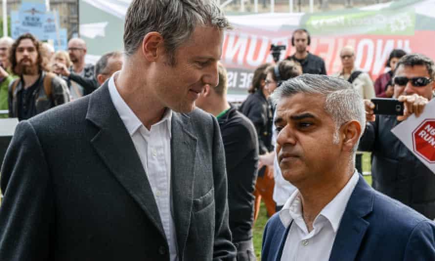 Sadiq Khan, right, said Zac Goldsmith's campaign was divisive.