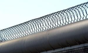 A prison fence in Australia.