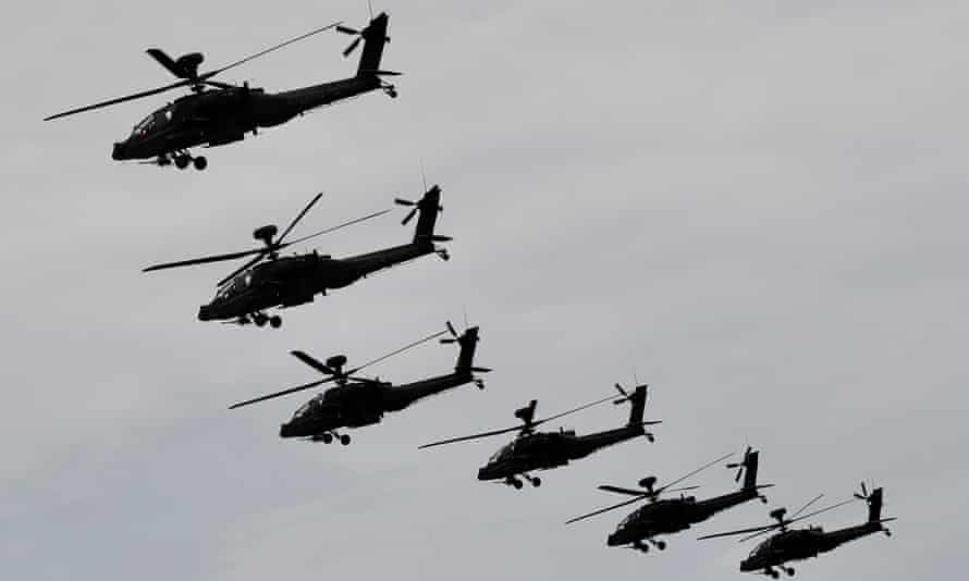 AH-64E attack helicopters.