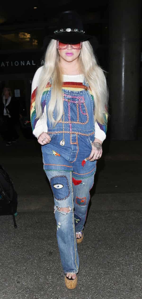 Kesha leaves LA for Europe last week.
