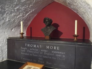 Thomas More's headless body is interred behind the crypt wall of the aptly named Chapel of St Peter-in-Chains (ad-Vincula).