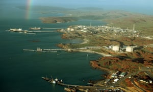 A gas export terminal in WA