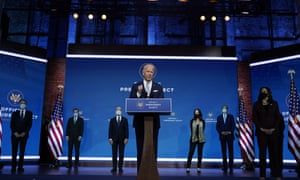 Joe Biden and Kamala Harris introduce their nominees and appointees to key national security and foreign policy posts at The Queen theater, in Wilmington, Delaware, moments ago.