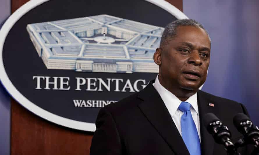 Lloyd Austin speaks at the Pentagon in Arlington, Virginia.