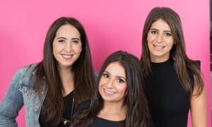 In the pink … Samantha Fishbein, Aleen Kuperman and Jordana Abraham, AKA Betches.