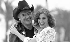 Manz con Dennis Hopper en Cannes en 1980.