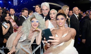 Willam Belli, Sam Elliott, Lady Gaga and Shangela during the 25th Annual Screen Actors Guild Awards