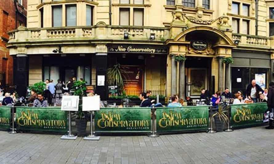 New Conservatory bar in Leeds.