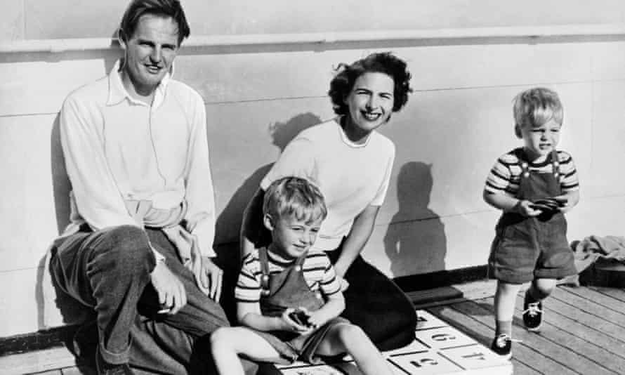 Donald Maclean with his wife, Melinda, and sons in the early 1950s.