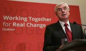 John McDonnell gives a speech on the Labour party's plans for Brexit in central London.