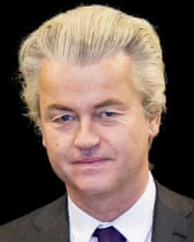 Opposition politician Geert Wilders.