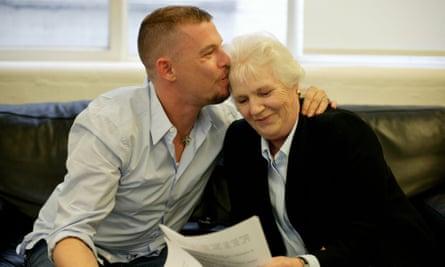 Alexander McQueen with his mother.