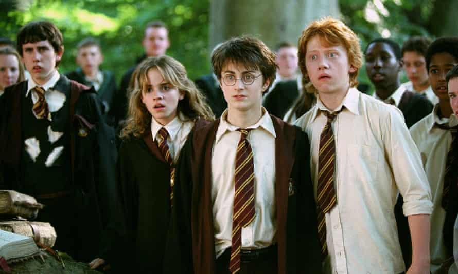 Emma Watson (Hermione Granger), Daniel Radcliffe in still from the film Harry Potter and the Prisoner of Azkaban'.