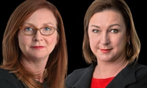 Guardian Australia's politics journalists Katharine Murphy (left) and Lenore Taylor (right).
