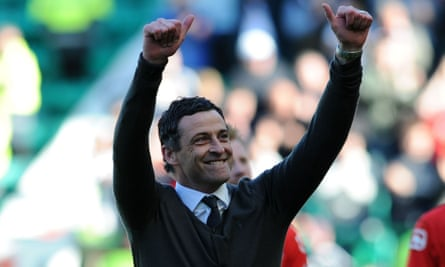 Jack Ross led St Mirren into the Scottish Premiership in 2018.