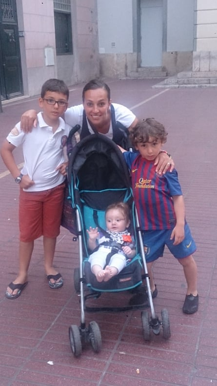 Loubna Lafquiri with their three sons