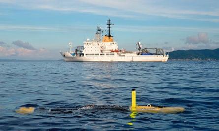 Photograph of Nato research vessel Alliance.