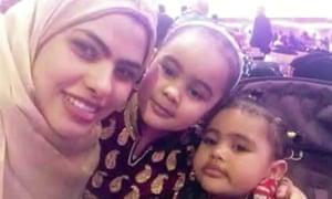 Rania Ibrahim with Fathia, 5, and Hania, 3.