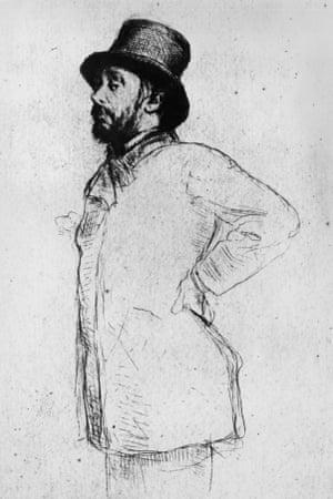 Edgar Degas, drawing by Marcellin Desboutin