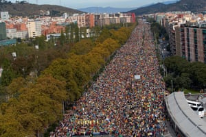 The 'Marches for Freedom' in Barcelona on Friday.