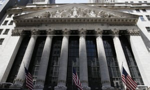 The outside of the New York Stock Exchange today