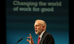 Corbyn speaking at the TUC conference on Tuesday.