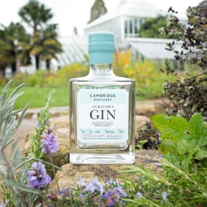 The Curator's Gin is flavoured with plant botanicals including an unusual ginger rosemary.