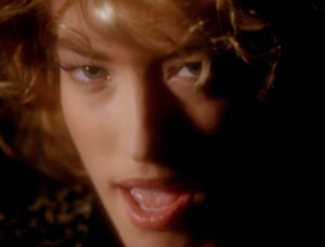 Model performance: Tatjana in a scene from the video of Freedom '90.