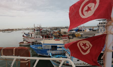Boats at the port of Zarzis