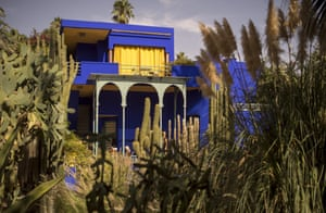 In the 70s, Saint Laurent and Berge bought a bigger house in Marrakech, Villa Oasis, which was connected to the Jardin Majorelle. The duo renovated the grounds and the site later became a museum. The bright blue finish of the house and the wild plants in the garden have enchanted visitors ever since. The designer's memorial is in the grounds, and the street the house is on was renamed Rue Yves Saint Laurent in his honour.