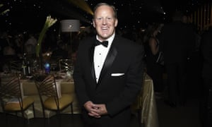 Sean Spicer attends the Governors Ball during the 2017 Emmys Awards in Los Angeles.