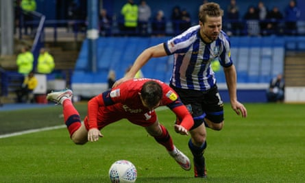 Wigan and Sheffield Wednesday in action at Hillsborough in October.