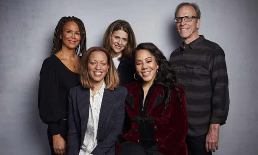 Sil Lai Abrams, Amy Ziering, Kirby Dick, Drew Dixon and Sheri Hines pose for a portrait at the Sundance Film Festival on 26 January 2020 in Park City, Utah.