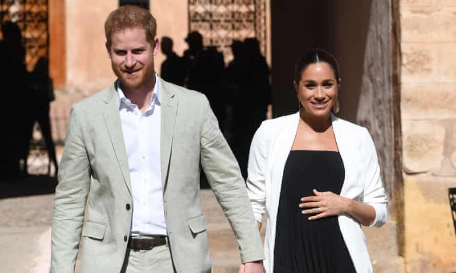 Prince Harry, the Duke of Sussex and his wife Meghan, Duchess of Sussex.